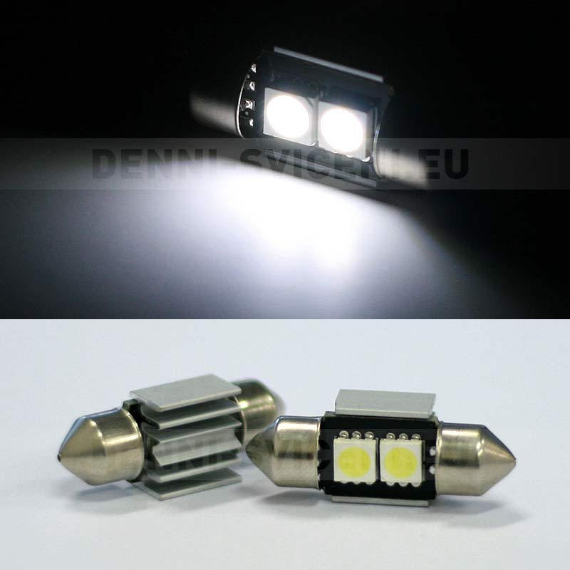 Sufitka bílá CAN-BUS - Super Light, 2 SMD LED, 36mm, 1ks
