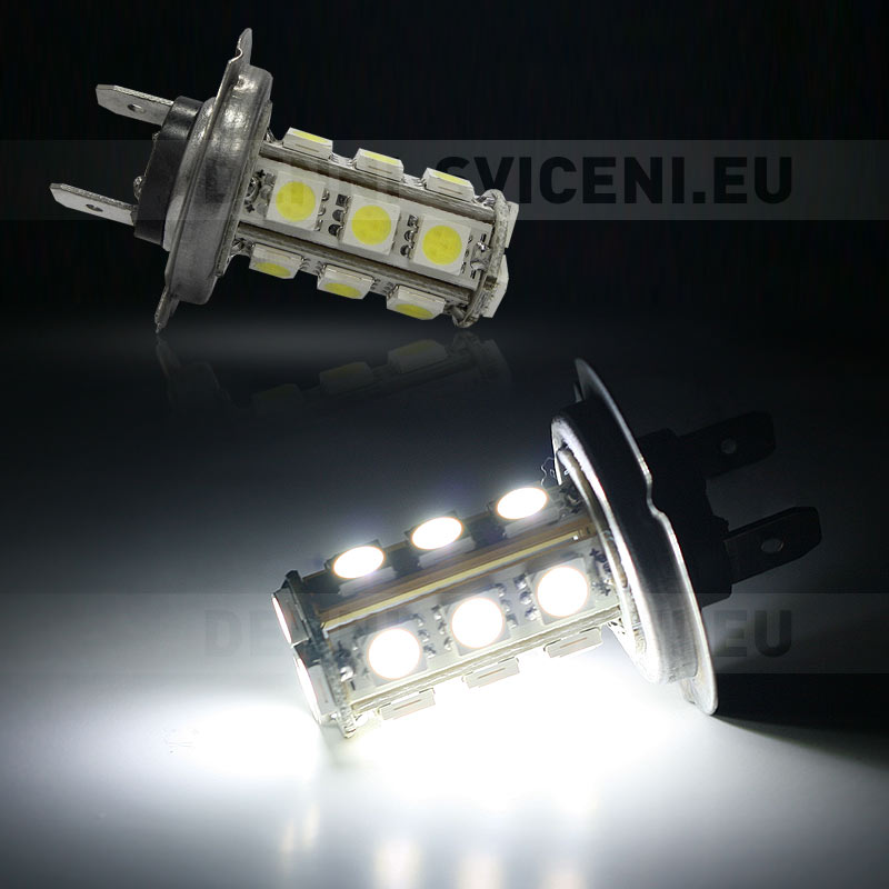 Žárovka LED 12V s paticí H7, 18 SMD LED, 1ks