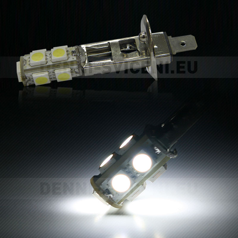 Žárovka LED 12V s paticí H1, 9 SMD LED, 1ks