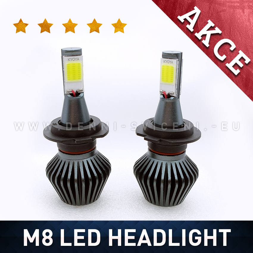 M8 LED HEADLIGHT H3 6000K 36W / 3800LM 12V/24V
