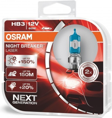 Osram HB3 Night Breaker Laser +150% P20d 12V 60W 2ks 9005NL-HCB